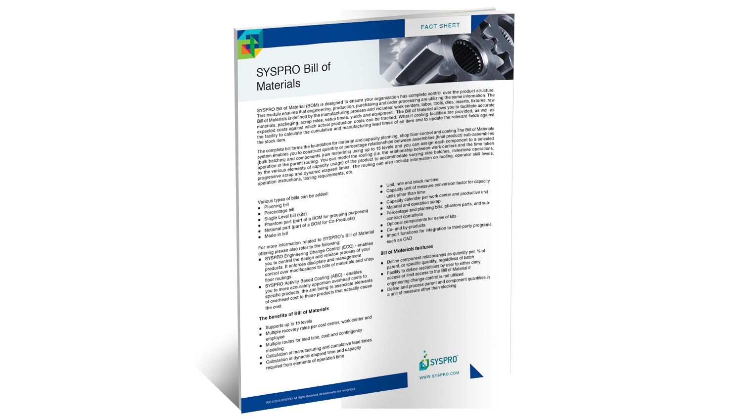 SYSPRO Bill of Materials Brochure