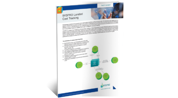 SYSPRO Landed Cost Tracking Brochure