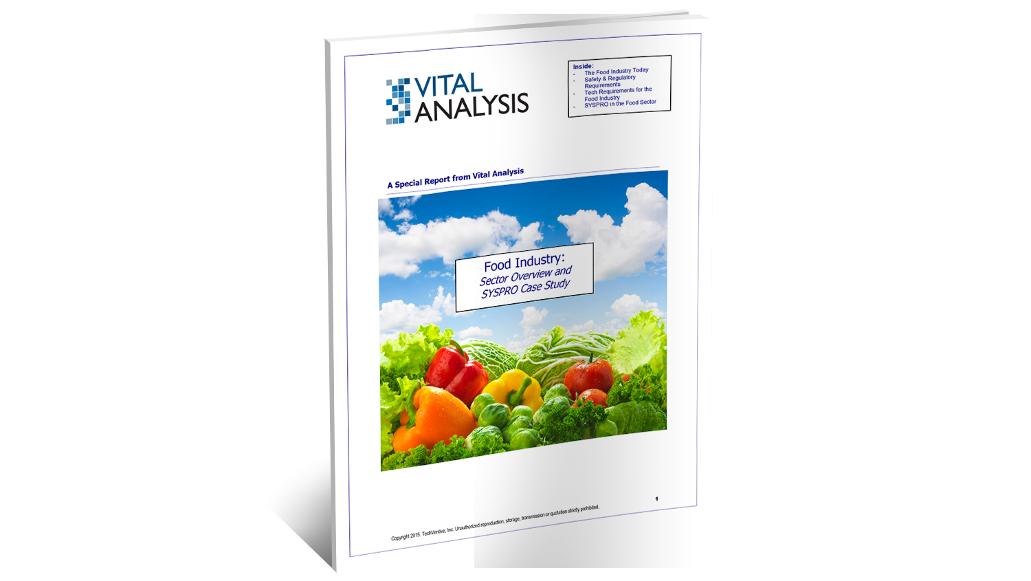 Techventive SYSPRO ERP for Food Analyst Report