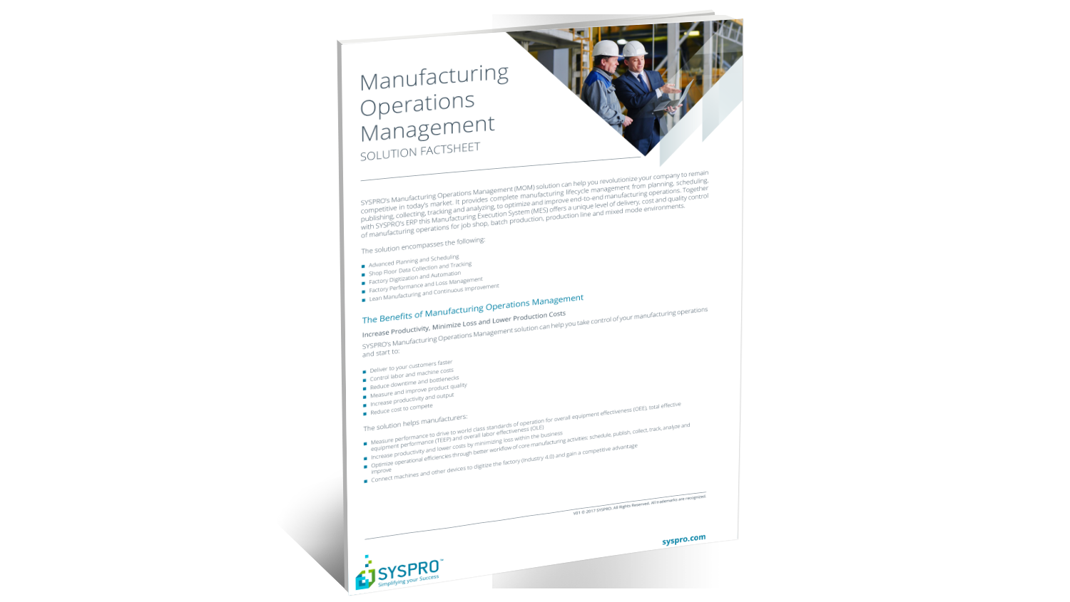 SYSPRO Manufacturing Operations Management – Factsheet